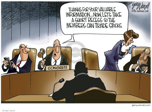 Cartoonist Gary Varvel  Gary Varvel's Editorial Cartoons 2020-03-21 congressional