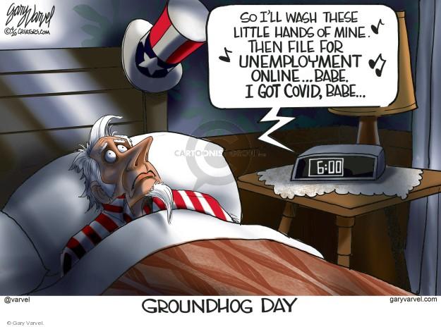 Cartoonist Gary Varvel  Gary Varvel's Editorial Cartoons 2020-04-06 unemployment