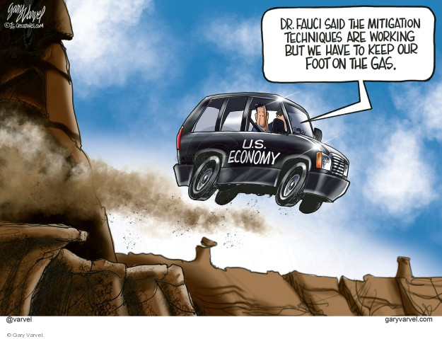 Gary Varvel  Gary Varvel's Editorial Cartoons 2020-04-08 recession