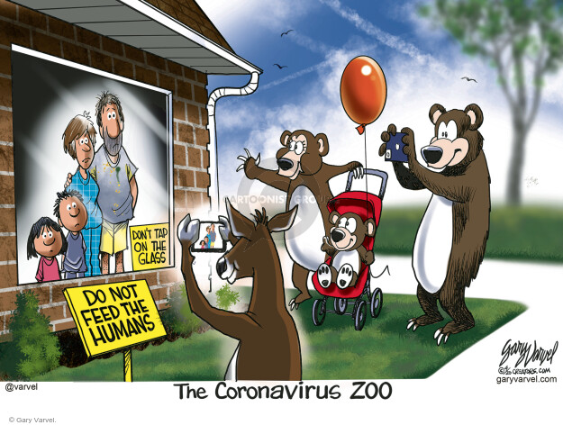 Cartoonist Gary Varvel  Gary Varvel's Editorial Cartoons 2020-04-16 coronavirus