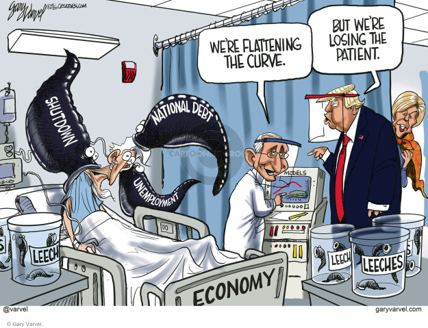 Cartoonist Gary Varvel  Gary Varvel's Editorial Cartoons 2020-04-23 coronavirus