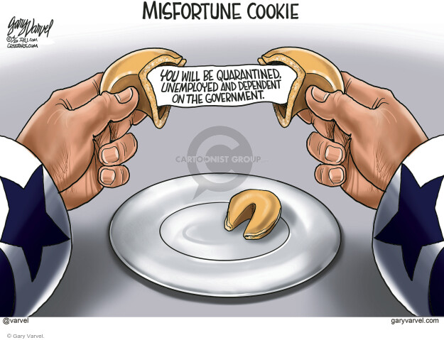 Cartoonist Gary Varvel  Gary Varvel's Editorial Cartoons 2020-04-30 coronavirus