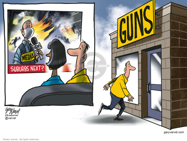 Cartoonist Gary Varvel  Gary Varvel's Editorial Cartoons 2020-06-03 murder