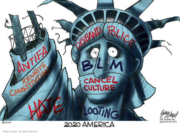 Gary Varvel  Gary Varvel's Editorial Cartoons 2020-06-12 Black Lives Matter