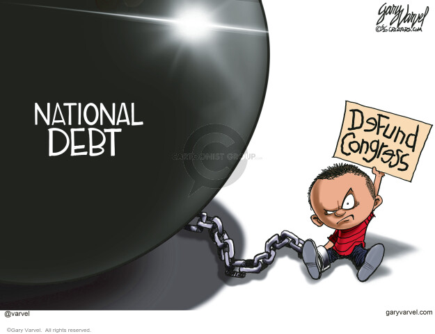 Cartoonist Gary Varvel  Gary Varvel's Editorial Cartoons 2020-06-18 government budget