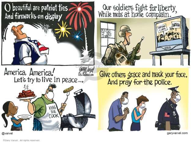 Gary Varvel  Gary Varvel's Editorial Cartoons 2020-07-03 pandemic