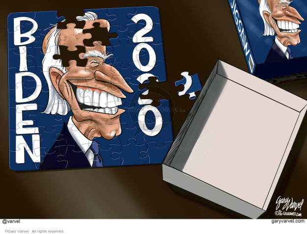Gary Varvel  Gary Varvel's Editorial Cartoons 2020-08-08 2020 Election Joe Biden
