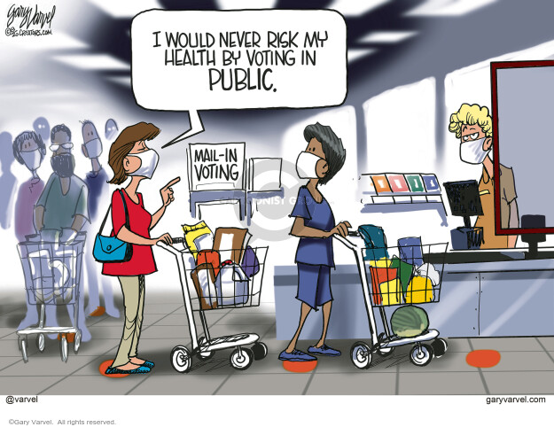 Gary Varvel  Gary Varvel's Editorial Cartoons 2020-08-21 public health