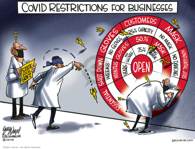 Gary Varvel  Gary Varvel's Editorial Cartoons 2020-09-07 pandemic