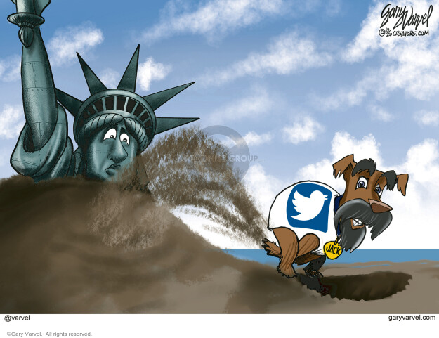 Gary Varvel  Gary Varvel's Editorial Cartoons 2020-10-19 censorship