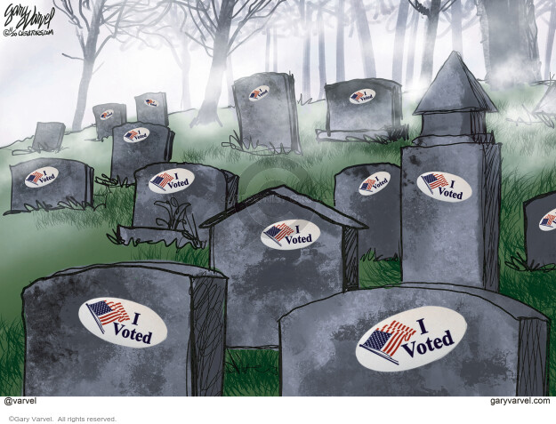 Gary Varvel  Gary Varvel's Editorial Cartoons 2020-11-11 voter fraud