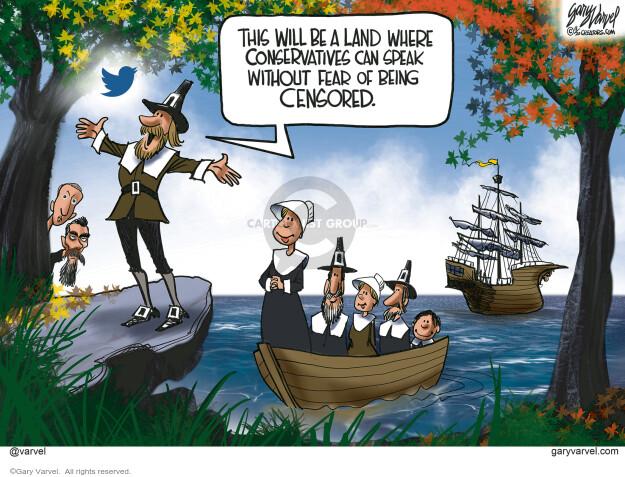 Gary Varvel  Gary Varvel's Editorial Cartoons 2020-11-20 censorship