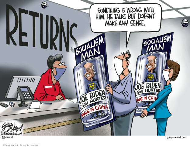 Gary Varvel  Gary Varvel's Editorial Cartoons 2020-12-28 democrat
