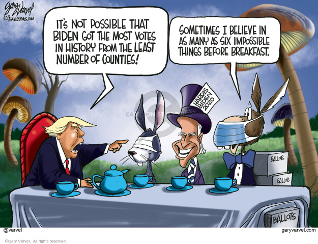 Gary Varvel  Gary Varvel's Editorial Cartoons 2020-12-31 Donald Trump Joe Biden