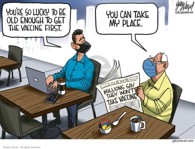 Gary Varvel  Gary Varvel's Editorial Cartoons 2021-02-03 COVID vaccine