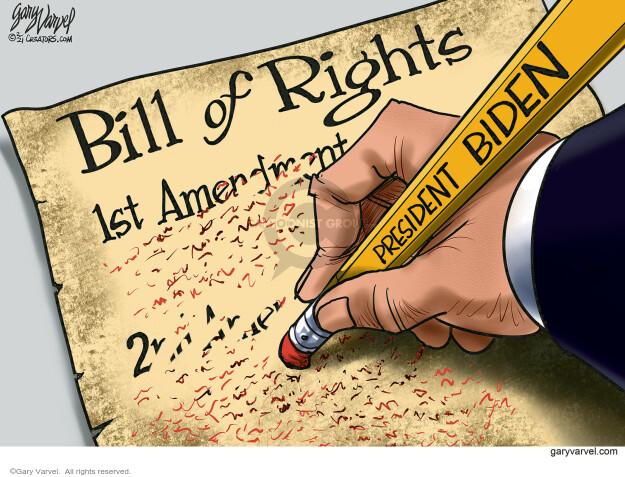 Gary Varvel  Gary Varvel's Editorial Cartoons 2021-02-15 Presidency
