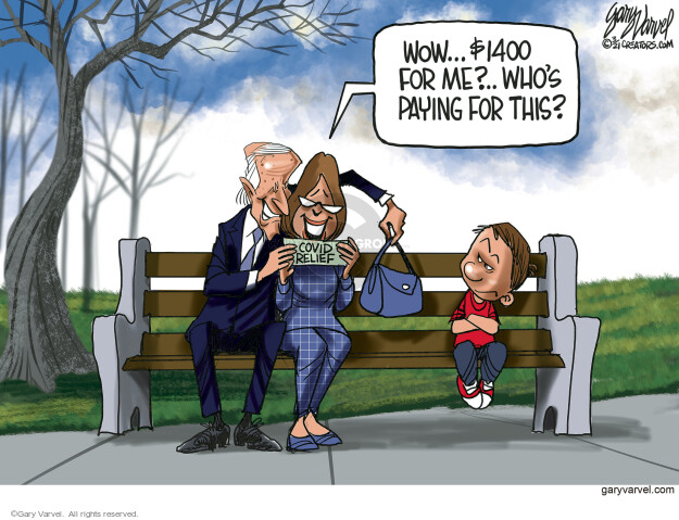 Gary Varvel  Gary Varvel's Editorial Cartoons 2021-03-12 coronavirus