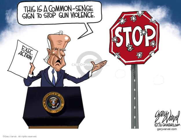 Gary Varvel  Gary Varvel's Editorial Cartoons 2021-04-09 gun control