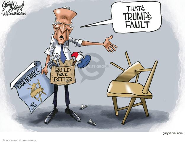 Gary Varvel  Gary Varvel's Editorial Cartoons 2021-10-13 Joe Biden