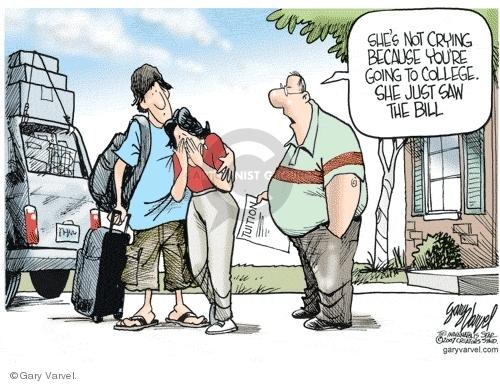 Cartoonist Gary Varvel  Gary Varvel's Editorial Cartoons 2007-08-17 college education