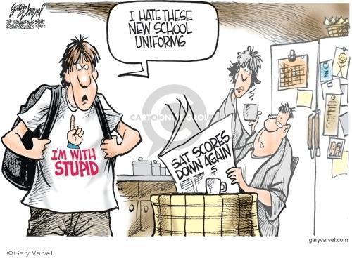 Gary Varvel  Gary Varvel's Editorial Cartoons 2007-08-30 new student