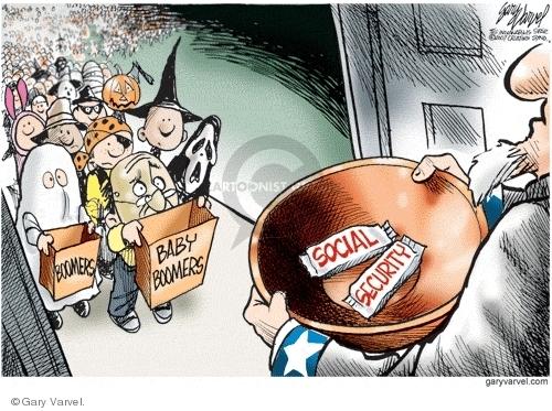 Cartoonist Gary Varvel  Gary Varvel's Editorial Cartoons 2007-10-20 social security