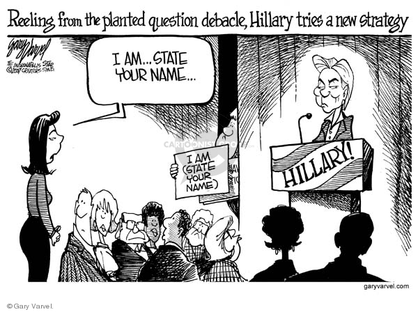 Cartoonist Gary Varvel  Gary Varvel's Editorial Cartoons 2007-11-14 name
