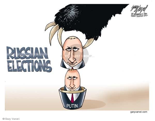 Cartoonist Gary Varvel  Gary Varvel's Editorial Cartoons 2007-12-04 Vladimir Putin