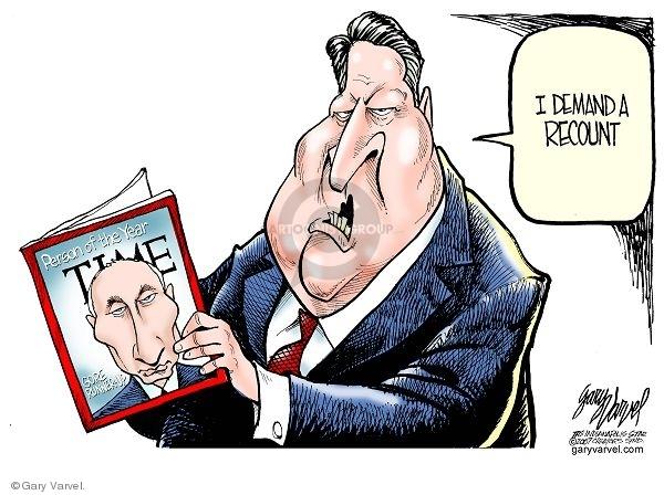 Cartoonist Gary Varvel  Gary Varvel's Editorial Cartoons 2007-12-20 Vladimir Putin