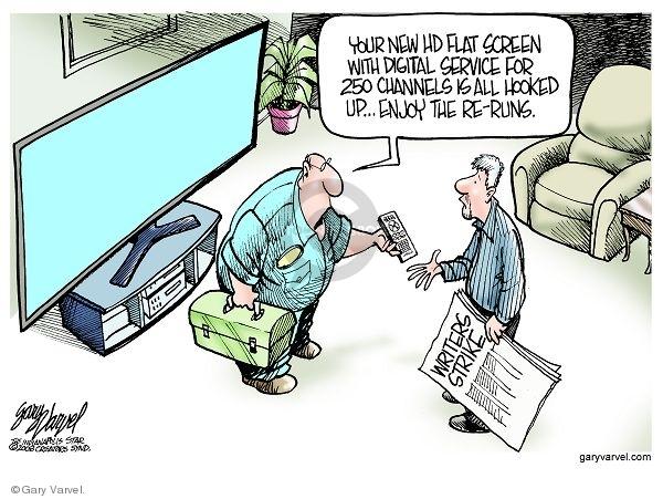 Cartoonist Gary Varvel  Gary Varvel's Editorial Cartoons 2008-01-04 screen