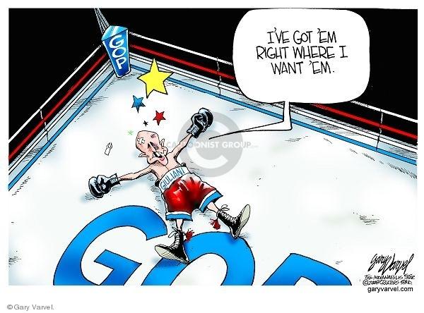 Cartoonist Gary Varvel  Gary Varvel's Editorial Cartoons 2008-01-24 GOP