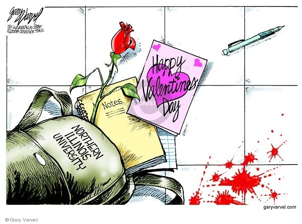 Cartoonist Gary Varvel  Gary Varvel's Editorial Cartoons 2008-02-16 murder