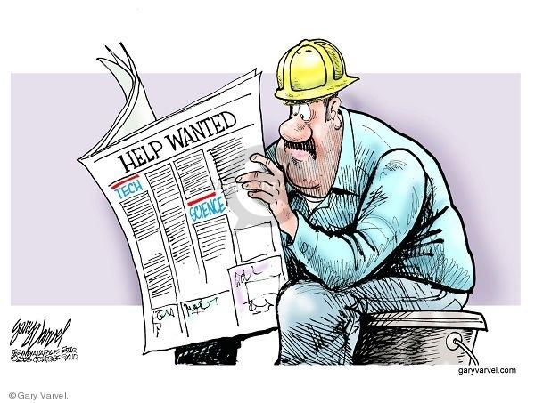 Cartoonist Gary Varvel  Gary Varvel's Editorial Cartoons 2008-02-18 employment training