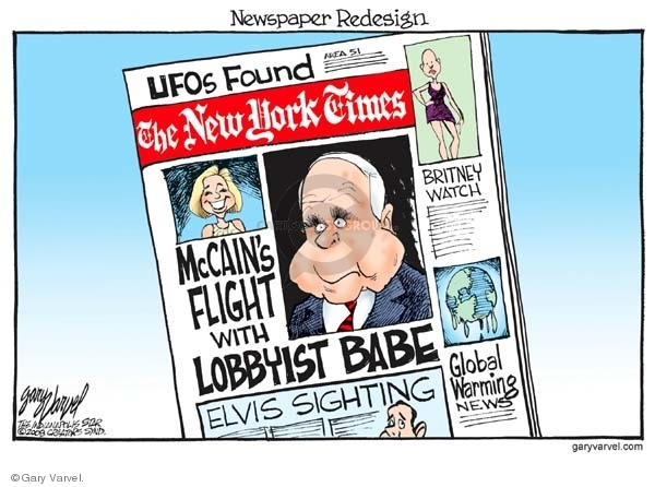 Cartoonist Gary Varvel  Gary Varvel's Editorial Cartoons 2008-02-22 John