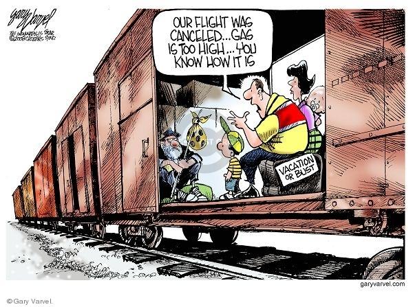 Cartoonist Gary Varvel  Gary Varvel's Editorial Cartoons 2008-04-12 airline