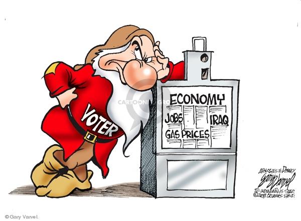 Cartoonist Gary Varvel  Gary Varvel's Editorial Cartoons 2008-04-30 Iraq war