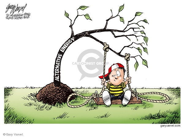 Cartoonist Gary Varvel  Gary Varvel's Editorial Cartoons 2008-05-30 alternative energy source