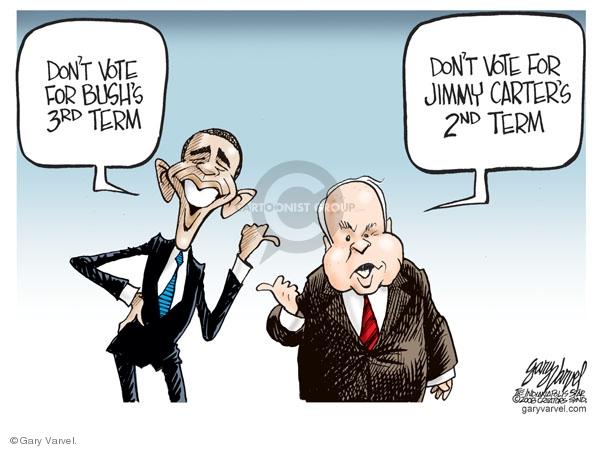 Cartoonist Gary Varvel  Gary Varvel's Editorial Cartoons 2008-06-09 Barack Obama