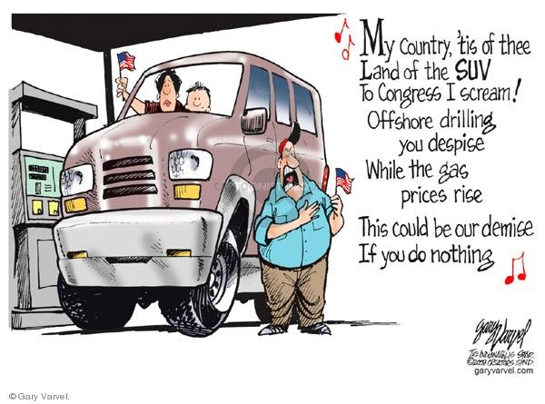 Cartoonist Gary Varvel  Gary Varvel's Editorial Cartoons 2008-07-02 land