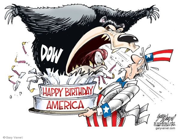 Cartoonist Gary Varvel  Gary Varvel's Editorial Cartoons 2008-07-04 fourth of July