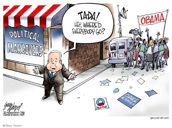 Cartoonist Gary Varvel  Gary Varvel's Editorial Cartoons 2008-07-11 Barack Obama