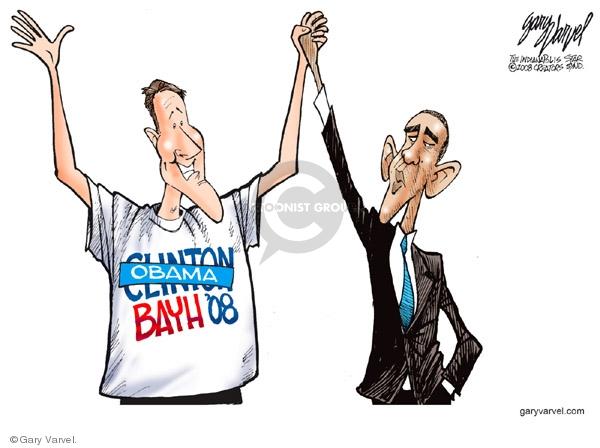 Cartoonist Gary Varvel  Gary Varvel's Editorial Cartoons 2008-08-06 Barack Obama