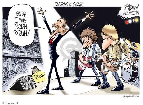 Cartoonist Gary Varvel  Gary Varvel's Editorial Cartoons 2008-08-28 Barack Obama