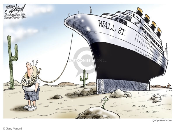 Cartoonist Gary Varvel  Gary Varvel's Editorial Cartoons 2008-09-23 economy