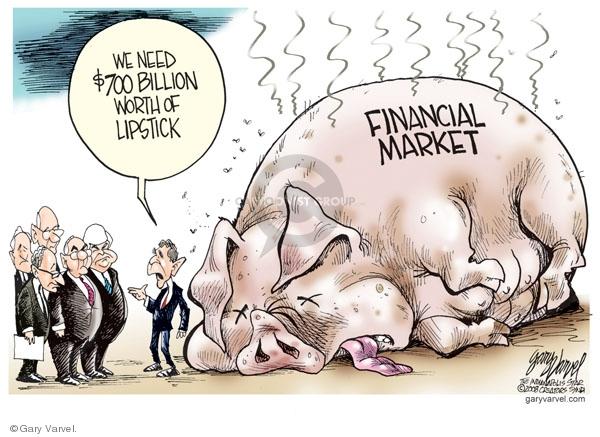 Cartoonist Gary Varvel  Gary Varvel's Editorial Cartoons 2008-09-26 Wall Street
