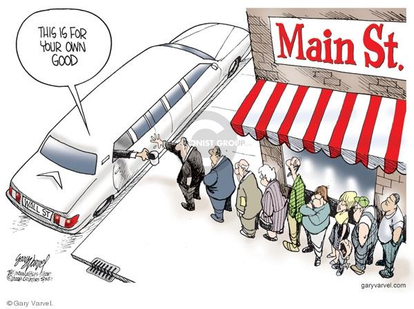 Cartoonist Gary Varvel  Gary Varvel's Editorial Cartoons 2008-10-06 Wall Street