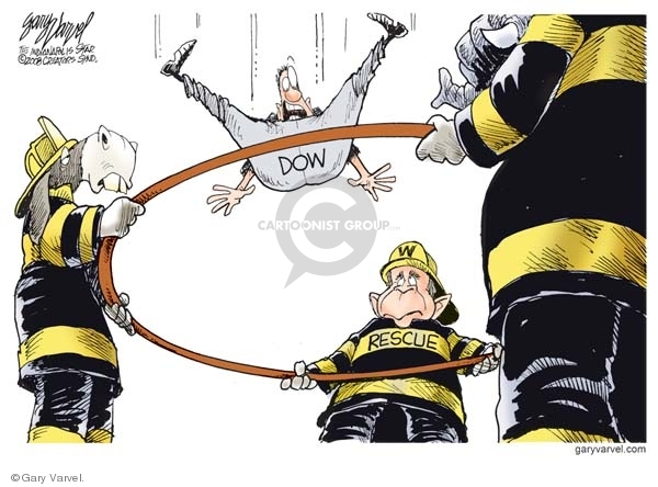 Gary Varvel  Gary Varvel's Editorial Cartoons 2008-10-07 stock market