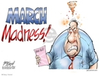 Cartoonist Gary Varvel  Gary Varvel's Editorial Cartoons 2009-03-09 March madness