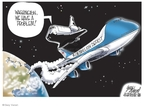 Cartoonist Gary Varvel  Gary Varvel's Editorial Cartoons 2009-05-12 space shuttle