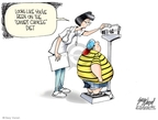 Cartoonist Gary Varvel  Gary Varvel's Editorial Cartoons 2009-10-06 obesity
